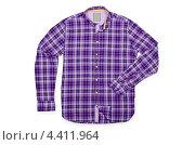 Купить «Синяя клетчатая мужская рубашка», фото № 4411964, снято 11 апреля 2012 г. (c) Elnur / Фотобанк Лори