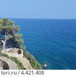 Вид на пляж Коста Брава, Каталония, Испания (2011 год). Стоковое фото, фотограф Анфимов Леонид / Фотобанк Лори