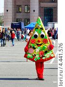 Купить «Человек-пицца», фото № 4441576, снято 8 сентября 2012 г. (c) Хайрятдинов Ринат / Фотобанк Лори