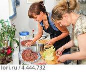 Купить «Приготовление холодных закусок дома», эксклюзивное фото № 4444732, снято 24 мая 2012 г. (c) Алёшина Оксана / Фотобанк Лори