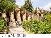 Купить «Парк Гуэль, Барселона, Испания», фото № 4445428, снято 12 марта 2013 г. (c) Яков Филимонов / Фотобанк Лори