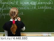 Купить «Урок русского языка и литературы в школе», фото № 4448880, снято 21 марта 2013 г. (c) yeti / Фотобанк Лори