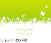 Купить «Зеленый весенний фон», иллюстрация № 4450760 (c) Евгения Малахова / Фотобанк Лори