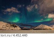 Полярное сияние над Хибинами, фото № 4452440, снято 29 марта 2013 г. (c) Надежда Щур / Фотобанк Лори
