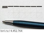 Поле с почтовым индексом и шариковая ручка крупным планом. Стоковое фото, фотограф Максим Тимофеев / Фотобанк Лори