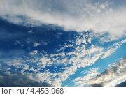 Купить «Облака на вечернем небосклоне», фото № 4453068, снято 29 июня 2010 г. (c) Alexey D. / Фотобанк Лори