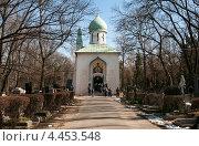 Xрам Успения Пресвятой Богородицы на Ольшанском кладбище в Праге. Стоковое фото, фотограф Яна Шпакова / Фотобанк Лори