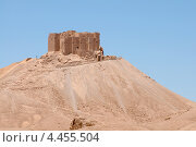 Купить «Средневековая мусульманская крепость Ибн Маан - Qala'at Ibn Maan (Ibn Maan castle, Fakhr al-Din al-Maani Castle), Пальмира, Сирия», фото № 4455504, снято 1 июля 2008 г. (c) Некрасов Андрей / Фотобанк Лори