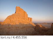 Купить «Средневековая мусульманская крепость Ибн Маан - Qala'at Ibn Maan (Ibn Maan castle, Fakhr al-Din al-Maani Castle) на закате, Пальмира, Сирия», фото № 4455556, снято 1 июля 2008 г. (c) Некрасов Андрей / Фотобанк Лори
