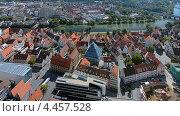 Вид на Ульм и Дунай с башни ульмской церкви, Германия (2012 год). Стоковое фото, фотограф Михаил Марковский / Фотобанк Лори