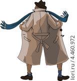 Купить «Эксгибиционист в расстегнутом пальто», иллюстрация № 4460972 (c) Станислав Стасюк / Фотобанк Лори