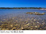 Морской пляж Адриатики с каменным дном (2012 год). Стоковое фото, фотограф Алексей Иванов / Фотобанк Лори