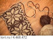 Купить «Недовязанные шерстяные носки», фото № 4468472, снято 3 января 2013 г. (c) Швайгерт Екатерина / Фотобанк Лори