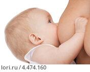 Купить «Заботливая мама кормит сына грудью», фото № 4474160, снято 20 октября 2012 г. (c) Syda Productions / Фотобанк Лори