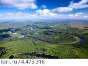Лесная река на равнине в солнечный день. Стоковое фото, фотограф Владимир Мельников / Фотобанк Лори