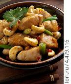Купить «Жареная курица с кешью, тайская кухня», фото № 4479116, снято 26 марта 2019 г. (c) Food And Drink Photos / Фотобанк Лори