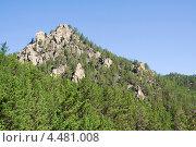 Горная вершина в Прибайкалье. Стоковое фото, фотограф Солодовникова Елена / Фотобанк Лори