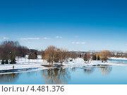 Комсомольское озеро, Минск (2013 год). Стоковое фото, фотограф Игорь Михновец / Фотобанк Лори
