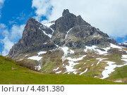 Альпийский вид, Форарльберг, Австрия (2012 год). Стоковое фото, фотограф Юрий Брыкайло / Фотобанк Лори