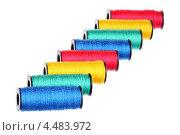 Купить «Восемь катушек с нитками», фото № 4483972, снято 7 апреля 2013 г. (c) Игорь Веснинов / Фотобанк Лори