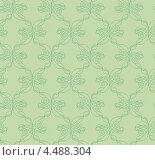 Купить «Зеленый бесшовный фон с растительным орнаментом», иллюстрация № 4488304 (c) Денис Авданин / Фотобанк Лори
