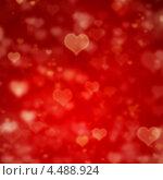Купить «Красный фон с сердцами», иллюстрация № 4488924 (c) Syda Productions / Фотобанк Лори
