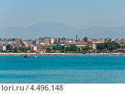 Вид на курорт Сиде со стороны моря. Турция (2012 год). Стоковое фото, фотограф Володина Ольга / Фотобанк Лори