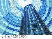 Купить «Интерьер небоскрёба «Северная башня» бизнес-центра «Москва-Сити», лифты», фото № 4515064, снято 20 декабря 2011 г. (c) Losevsky Pavel / Фотобанк Лори