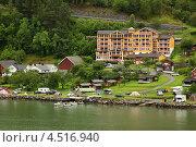Отель Grande Fjord Hotel на берегу Гейрангер Фьорда в Норвегии (2011 год). Редакционное фото, фотограф Losevsky Pavel / Фотобанк Лори