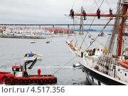 Купить «Корабли у набережной Ставангера, Норвегия», фото № 4517356, снято 28 июля 2011 г. (c) Losevsky Pavel / Фотобанк Лори