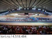 Купить «Гоночная трасса на стадионе на соревнованиях UCI юниоров, Чемпионат мира,19 августа 2011 года в Москве, Россия», фото № 4518484, снято 19 августа 2011 г. (c) Losevsky Pavel / Фотобанк Лори