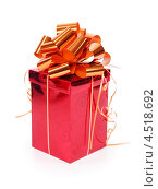 Купить «Красная подарочная коробка», фото № 4518692, снято 16 декабря 2011 г. (c) Losevsky Pavel / Фотобанк Лори
