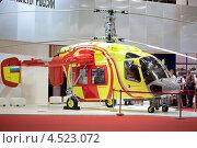 Купить «Вертолет Ка-226т в павильоне на международной выставке вертолетной индустрии Helirussia в выставочном центре Крокус Экспо, 21 мая 2011 года, Москва, Россия», фото № 4523072, снято 21 мая 2011 г. (c) Losevsky Pavel / Фотобанк Лори
