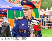 Купить «Казачий атаман», эксклюзивное фото № 4524880, снято 9 мая 2012 г. (c) Алёшина Оксана / Фотобанк Лори
