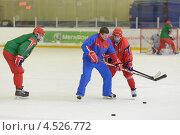 Купить «Открытая ледовая тренировка юниорской, до 18 лет, сборной России по хоккею», фото № 4526772, снято 12 апреля 2013 г. (c) Stockphoto / Фотобанк Лори