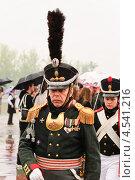 Купить «Офицер  царских времён на празднике Победы 9 мая», эксклюзивное фото № 4541216, снято 9 мая 2012 г. (c) Алёшина Оксана / Фотобанк Лори