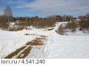 Купить «Весенний сельский пейзаж», эксклюзивное фото № 4541240, снято 9 апреля 2013 г. (c) Елена Коромыслова / Фотобанк Лори