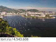 Купить «Пляжа Ботафого и залив Гуанабара, Рио-де-Жанейро, Бразилия», фото № 4543608, снято 21 декабря 2012 г. (c) vale_t / Фотобанк Лори