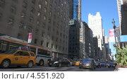 Пробка на Пятой Авеню в Нью-Йорке, видеоролик № 4551920, снято 26 октября 2012 г. (c) Igor Vorobyov / Фотобанк Лори