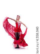 Купить «Молодая танцовщица в красном платье», фото № 4558040, снято 2 марта 2013 г. (c) Elnur / Фотобанк Лори