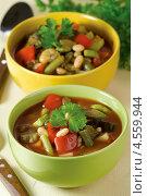 Купить «Запечённый постный суп», эксклюзивное фото № 4559944, снято 24 апреля 2013 г. (c) Александр Курлович / Фотобанк Лори