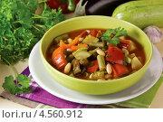 Купить «Запечённый постный суп», эксклюзивное фото № 4560912, снято 24 апреля 2013 г. (c) Александр Курлович / Фотобанк Лори