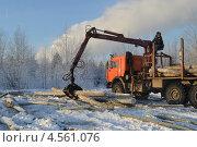 Лесозаготовительная техника (2012 год). Редакционное фото, фотограф Артём Вакарин / Фотобанк Лори