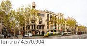 Купить «Дом Лео Морера в Барселоне, Испания», фото № 4570904, снято 8 апреля 2020 г. (c) Яков Филимонов / Фотобанк Лори