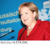 Ангела Меркель - федеральный канцлер Германии. Редакционное фото, фотограф Татьяна Глухова / Фотобанк Лори