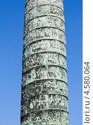 Купить «Фрагмент Вандомской колонны (фр. la colonne Vendôme). Париж. Франция», фото № 4580064, снято 21 апреля 2013 г. (c) Катерина Макарова / Фотобанк Лори