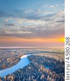 Купить «Утро над тайгой», фото № 4580268, снято 20 января 2012 г. (c) Владимир Мельников / Фотобанк Лори