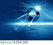 Купить «Фантастический пейзаж, планета Земля», иллюстрация № 4584360 (c) ElenArt / Фотобанк Лори