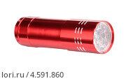 Купить «Красный светодиодный фонарь на белом фоне», фото № 4591860, снято 24 ноября 2012 г. (c) Valeriy Novikov / Фотобанк Лори