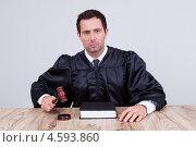 Купить «Серьезный суровый судья в мантии», фото № 4593860, снято 14 июля 2012 г. (c) Андрей Попов / Фотобанк Лори